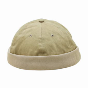 Peakless Cap (6-P Heavy Brushed Beanie with Knitted Turn up)