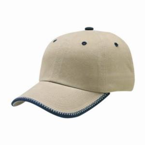 Safari Caps Washed with Blanket Stitches Buckle Closure